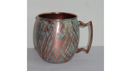 Patina finish Solid Copper Mugs