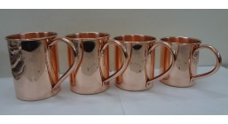 Riveted handles Solid Copper Moscow Mule Mug