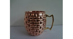 Embossed Solid Copper Moscow Mule Mug